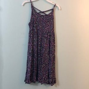 Purple designed flowy dress